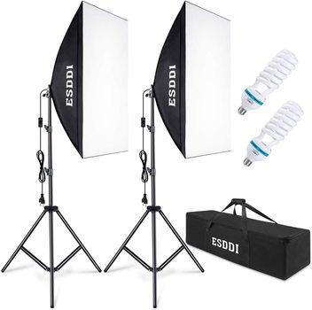 ESDDI Softbox Beleuchtungs Set