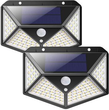 100 LED Solarleuchte mit Bewegungsmelder